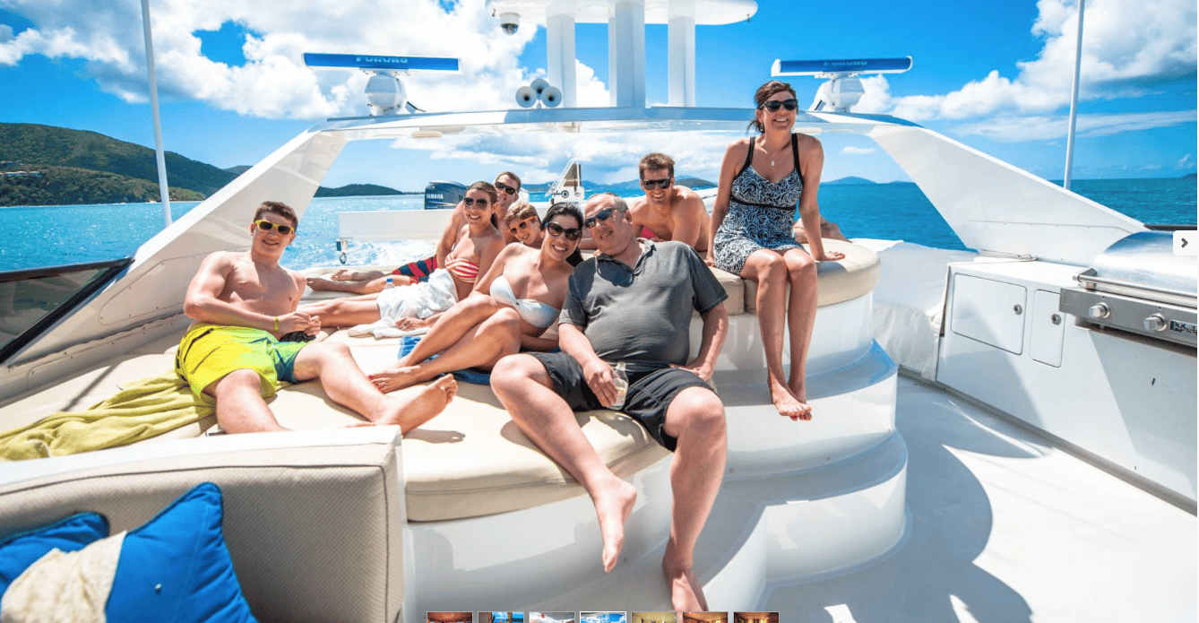 Guests on St. Thomas Mega Yacht CHarter
