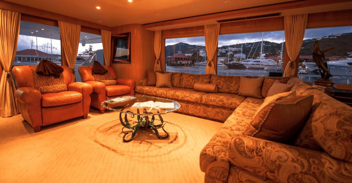 Salon - St. Thomas Mega Yacht Charter