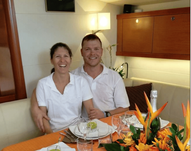 Smiling Crew on Fountain Pajot catamaran Lir