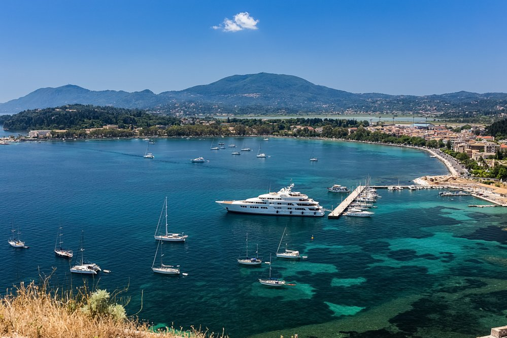 Greece Motor Yacht Charters at Dock
