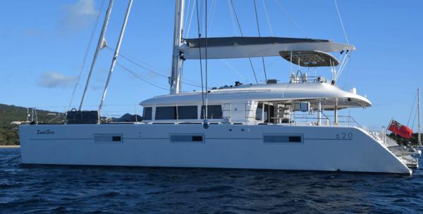 Side photo of the Sandiseas Grenadines Yacht Charter