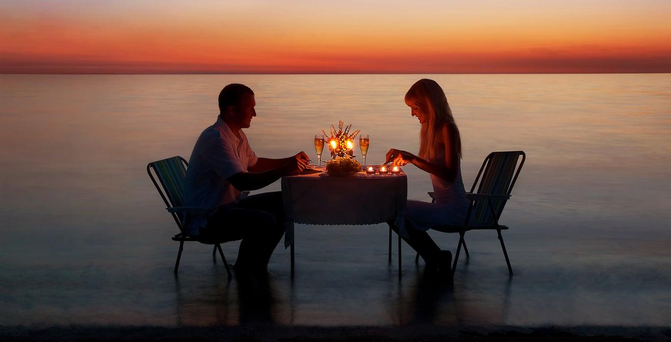 Romantic Dinner in St. Barts