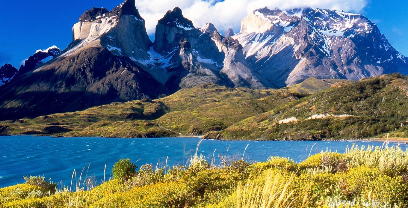 View of the mountains while on a Patagonia Yacht Charter Itinerary