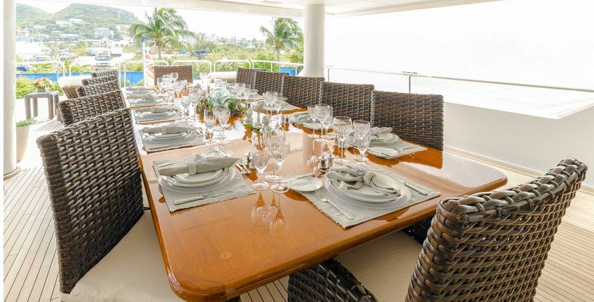 Excellent Cuisine can be expected on One More Toy Yacht Charter Grenadines