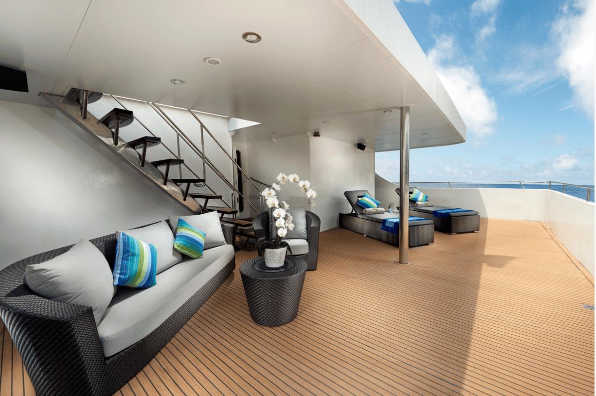 Sunset Spot on Indonesia Luxury Liveboard Gaia Love