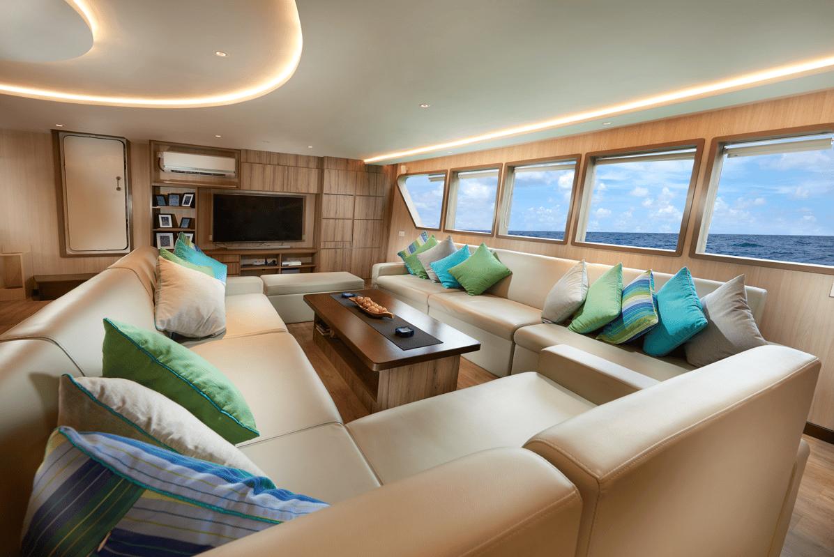 Indonesia Luxury Liveboard Gaia Love Modern Salon