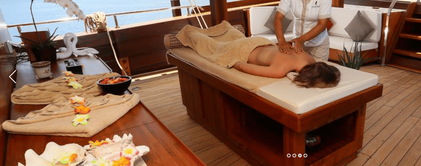Spa Services on Indonesia Luxury Yacht Charter