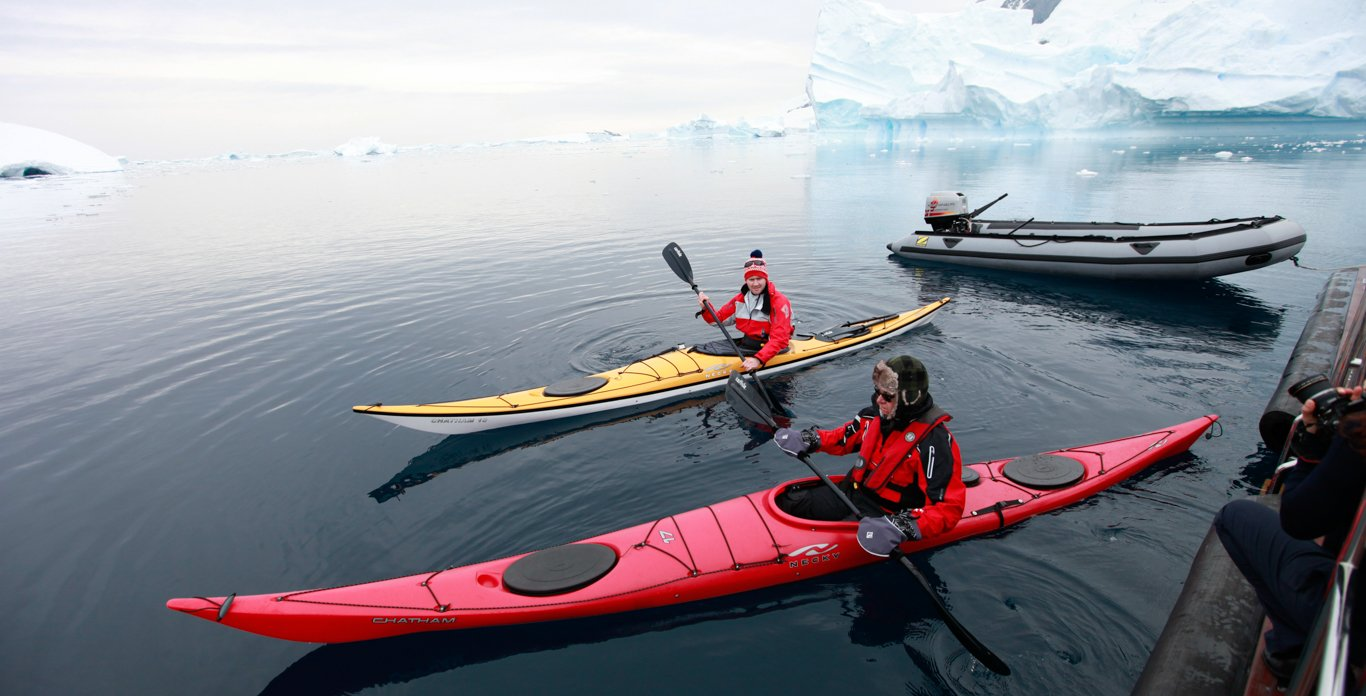 kayaking on an Antarctica Expedition Cruise