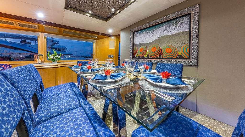 Motor Yacht 'ALEXANDRA JANE' Dining Table, 10 PAX, 4 Crew, 110.00 Ft, 33.00 Meters, Built 1995, Broward, Refit Year 2019