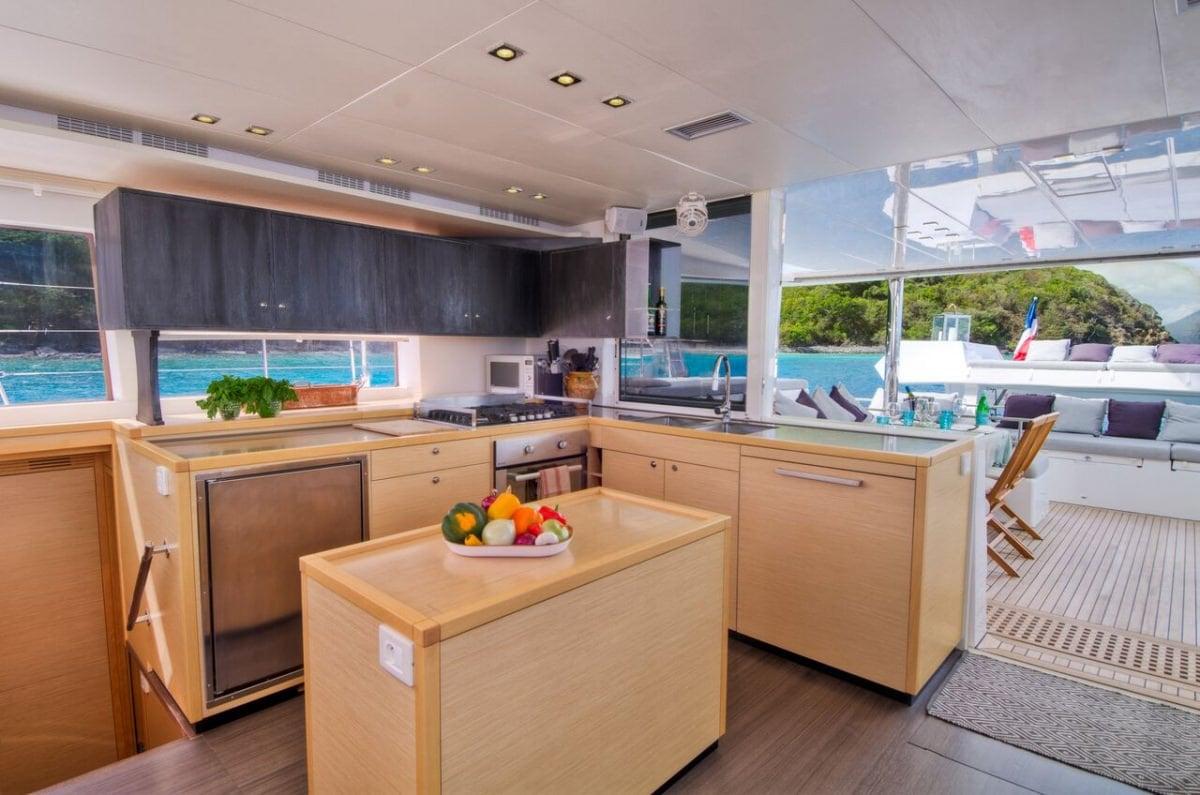Catamaran Yacht 'ALTESSE' Altesse's galley, 8 PAX, 2 Crew, 56.00 Ft, 17.00 Meters, Built 2013, Lagoon, Refit Year 2019