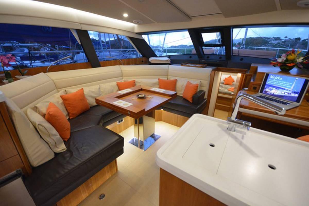Sailing Yacht 'MOJEKA' Main Salon, 6 PAX, 2 Crew, 56.00 Ft, 17.00 Meters, Built 2014, MOODY