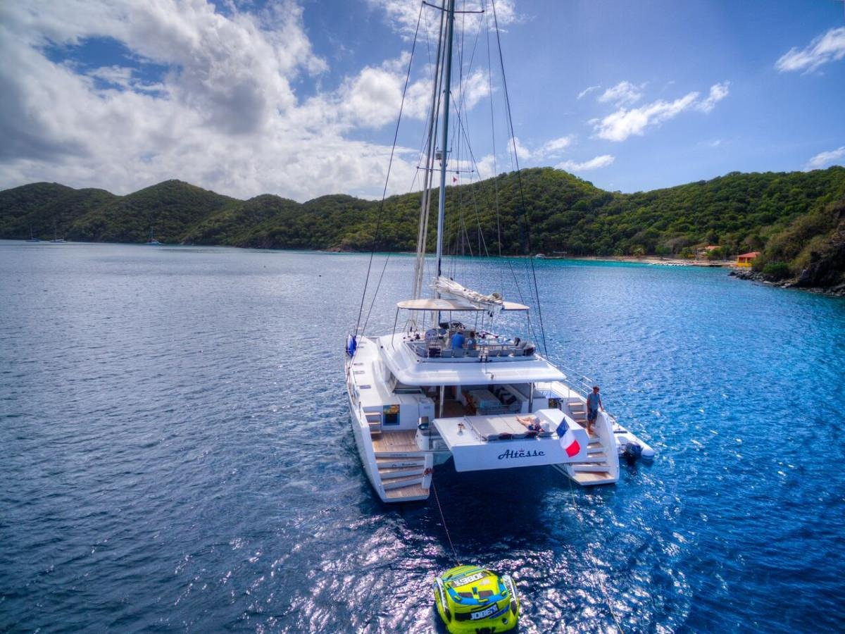 Catamaran Yacht 'ALTESSE' Stern view with easy water access, 8 PAX, 2 Crew, 56.00 Ft, 17.00 Meters, Built 2013, Lagoon, Refit Year 2019