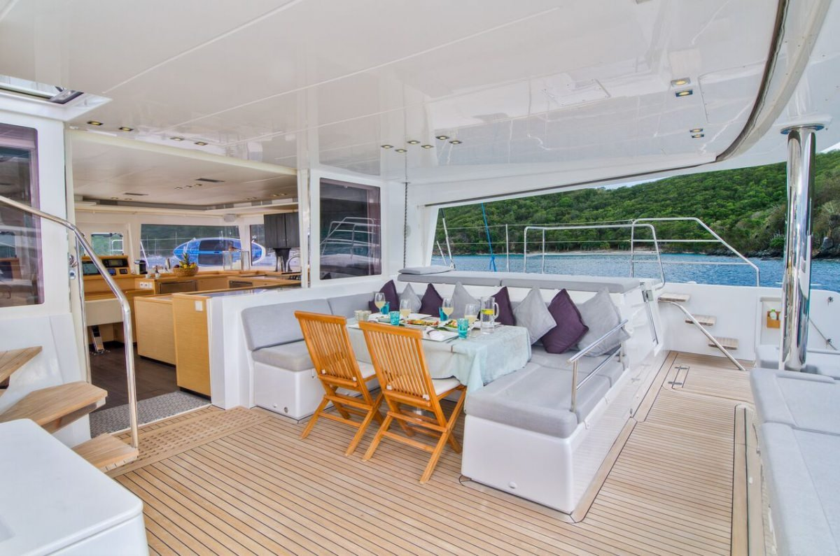 Catamaran Yacht 'ALTESSE' Cockpit aft, with dining and lounging, 8 PAX, 2 Crew, 56.00 Ft, 17.00 Meters, Built 2013, Lagoon, Refit Year 2019