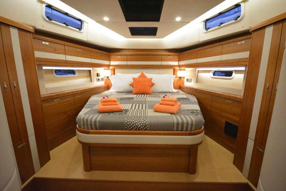 Sailing Yacht 'MOJEKA' Primary Stateroom, 6 PAX, 2 Crew, 56.00 Ft, 17.00 Meters, Built 2014, MOODY