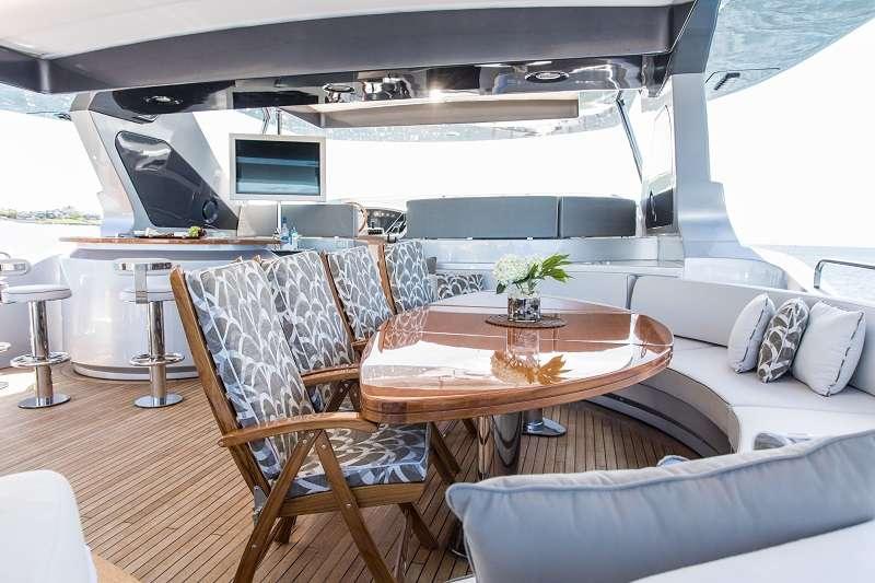 Motor Yacht 'TAIL LIGHTS' Flybridge Al fresco dining, 12 PAX, 6 Crew, 116.00 Ft, 35.00 Meters, Built 2011, Azimut, Refit Year 2016