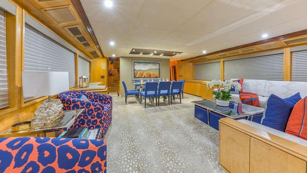 Motor Yacht 'ALEXANDRA JANE' Main Salon, 10 PAX, 4 Crew, 110.00 Ft, 33.00 Meters, Built 1995, Broward, Refit Year 2019