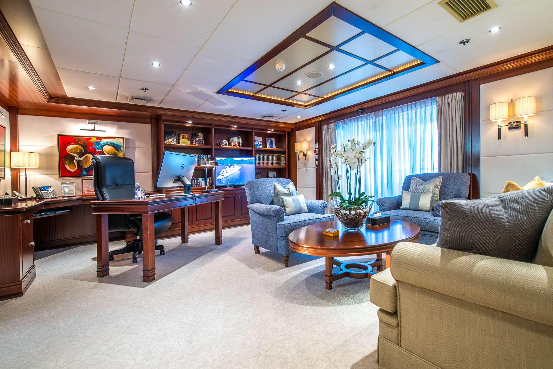 Motor Yacht 'LAUREN L' Master Salon, 40 PAX, 295.00 Ft, 90.00 Meters, Built 2002, Cassens Werft, Refit Year 2008/2015