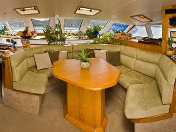 Catamaran Yacht 'BREANKER' Main salon full of comfort and luxury, 8 PAX, 2 Crew, 55.00 Ft, 16.00 Meters, Built 1991, Simonis, Refit Year 2018