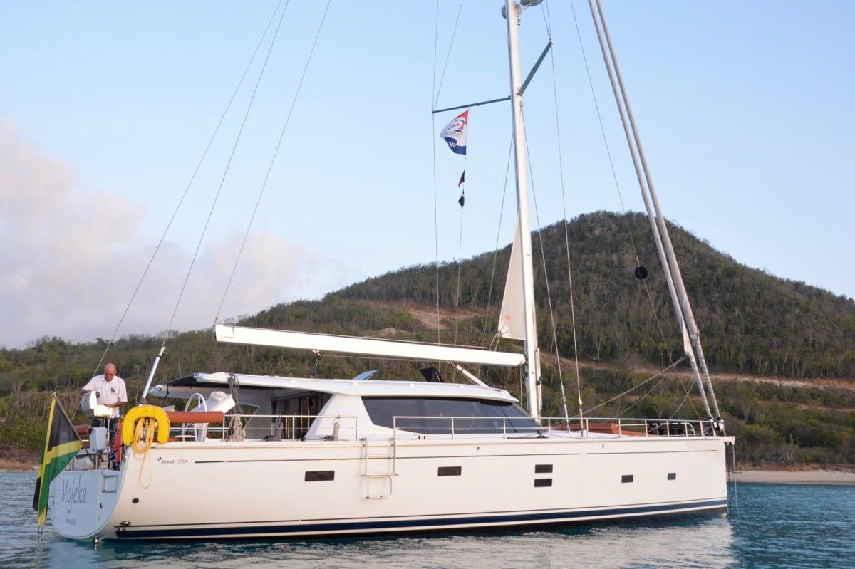 Sailing Yacht 'MOJEKA' Side view, 6 PAX, 2 Crew, 56.00 Ft, 17.00 Meters, Built 2014, MOODY
