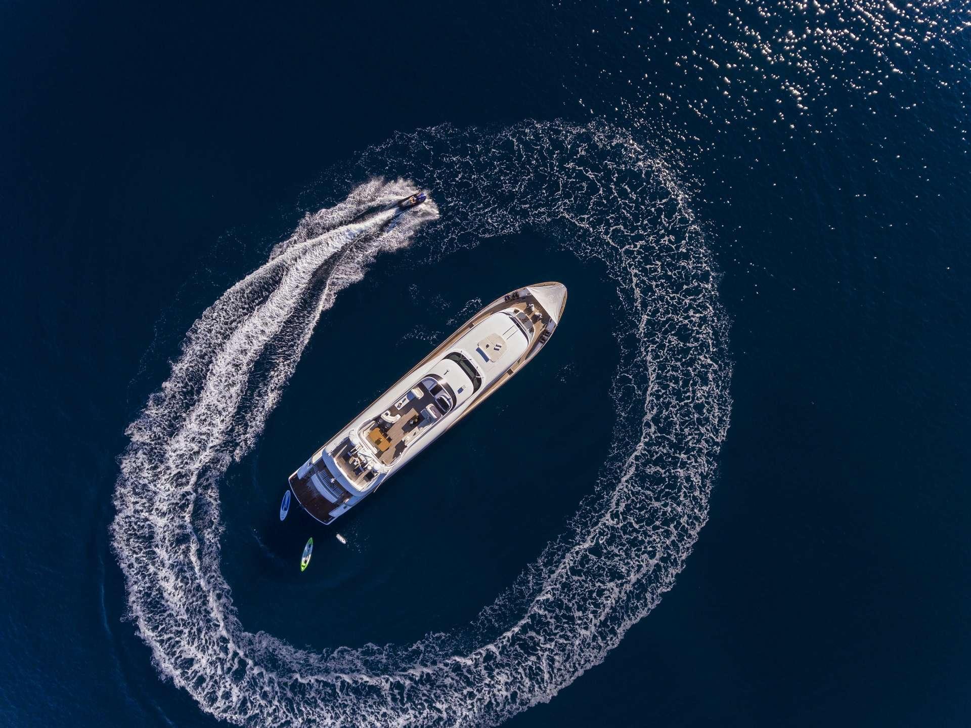 Motor Yacht 'PARIS A' Aerial view, 12 PAX, 6 Crew, 115.00 Ft, 35.06 Meters, Built 2009, Majora, Refit Year 2013