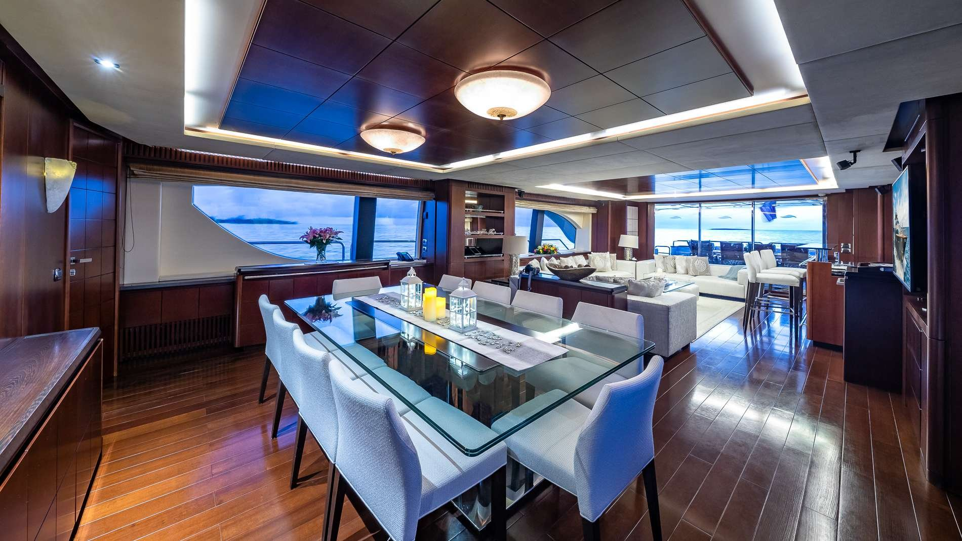 Motor Yacht 'TAIL LIGHTS' Salan Aft w Formal Dining, 12 PAX, 6 Crew, 116.00 Ft, 35.00 Meters, Built 2011, Azimut, Refit Year 2016
