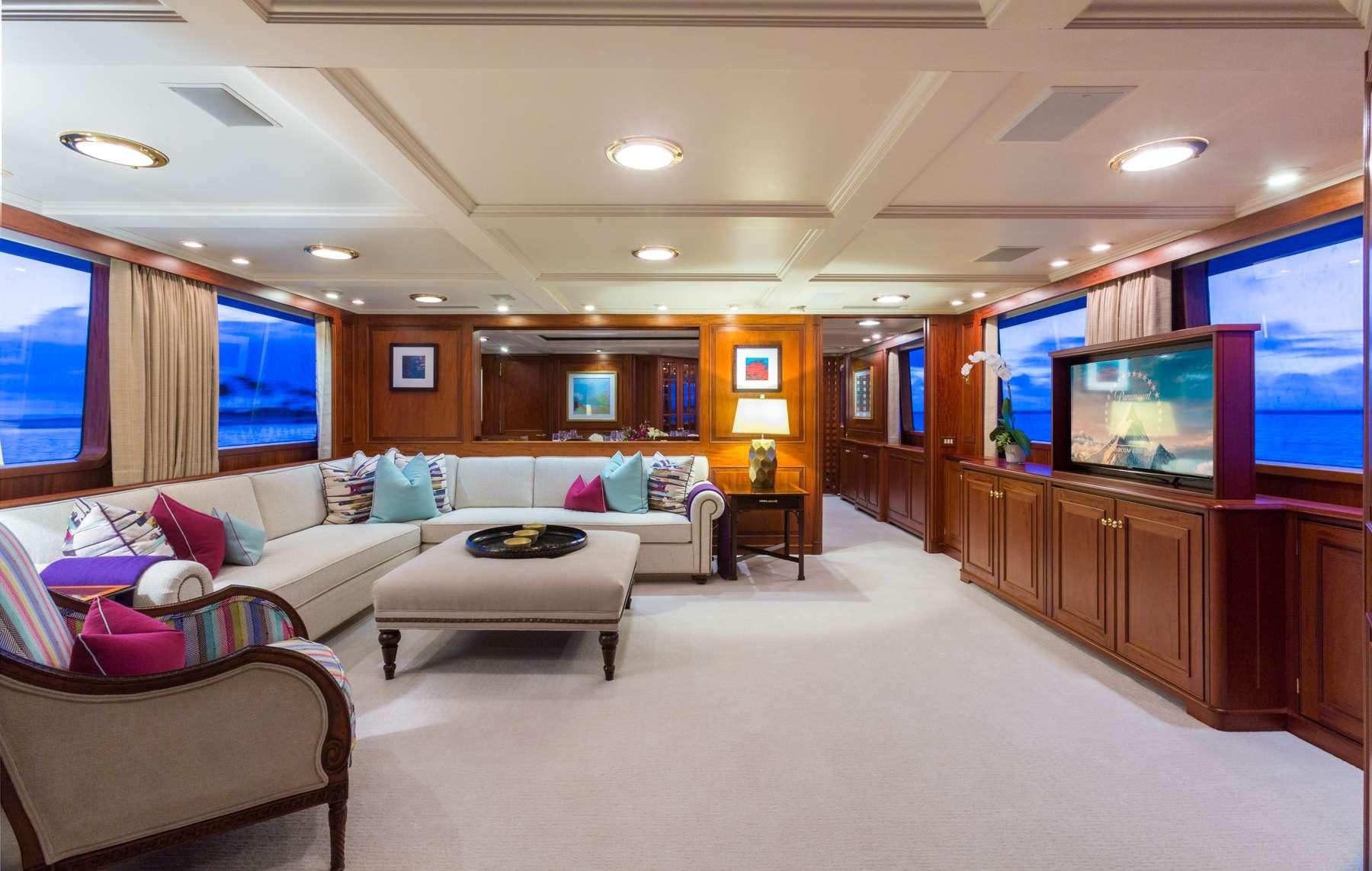 Motor Yacht 'LADY J' Main Salon, 12 PAX, 9 Crew, 142.00 Ft, 43.00 Meters, Built 1997, Palmer Johnson, Refit Year 2017
