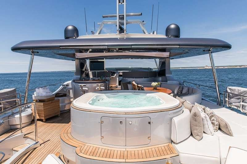 Motor Yacht 'TAIL LIGHTS' Flybridge Forward View, 12 PAX, 6 Crew, 116.00 Ft, 35.00 Meters, Built 2011, Azimut, Refit Year 2016
