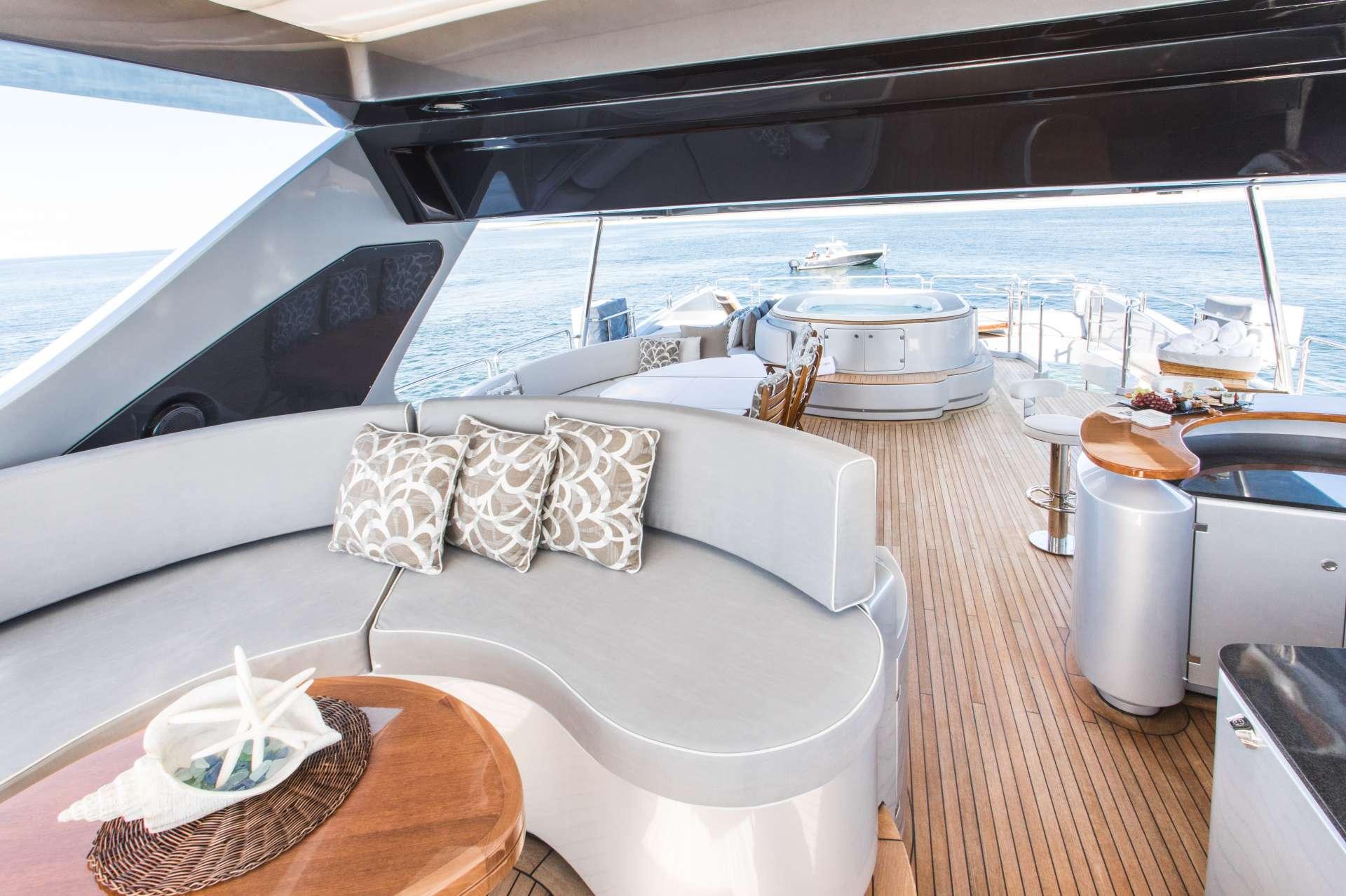 Motor Yacht 'TAIL LIGHTS' Flybridge Aft View, 12 PAX, 6 Crew, 116.00 Ft, 35.00 Meters, Built 2011, Azimut, Refit Year 2016
