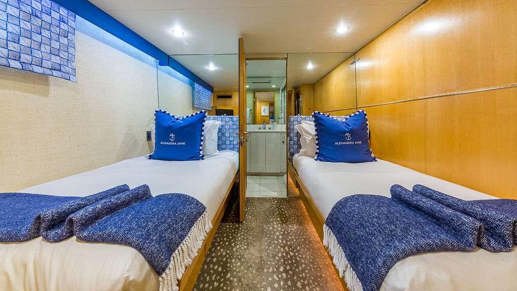 Motor Yacht 'ALEXANDRA JANE' Twin Guest Stateroom, 10 PAX, 4 Crew, 110.00 Ft, 33.00 Meters, Built 1995, Broward, Refit Year 2019