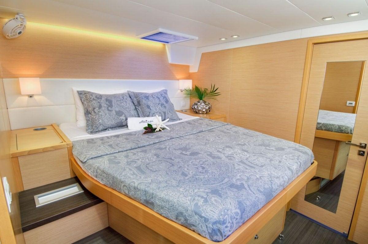 Catamaran Yacht 'ALTESSE' Forward guest suite, 8 PAX, 2 Crew, 56.00 Ft, 17.00 Meters, Built 2013, Lagoon, Refit Year 2019
