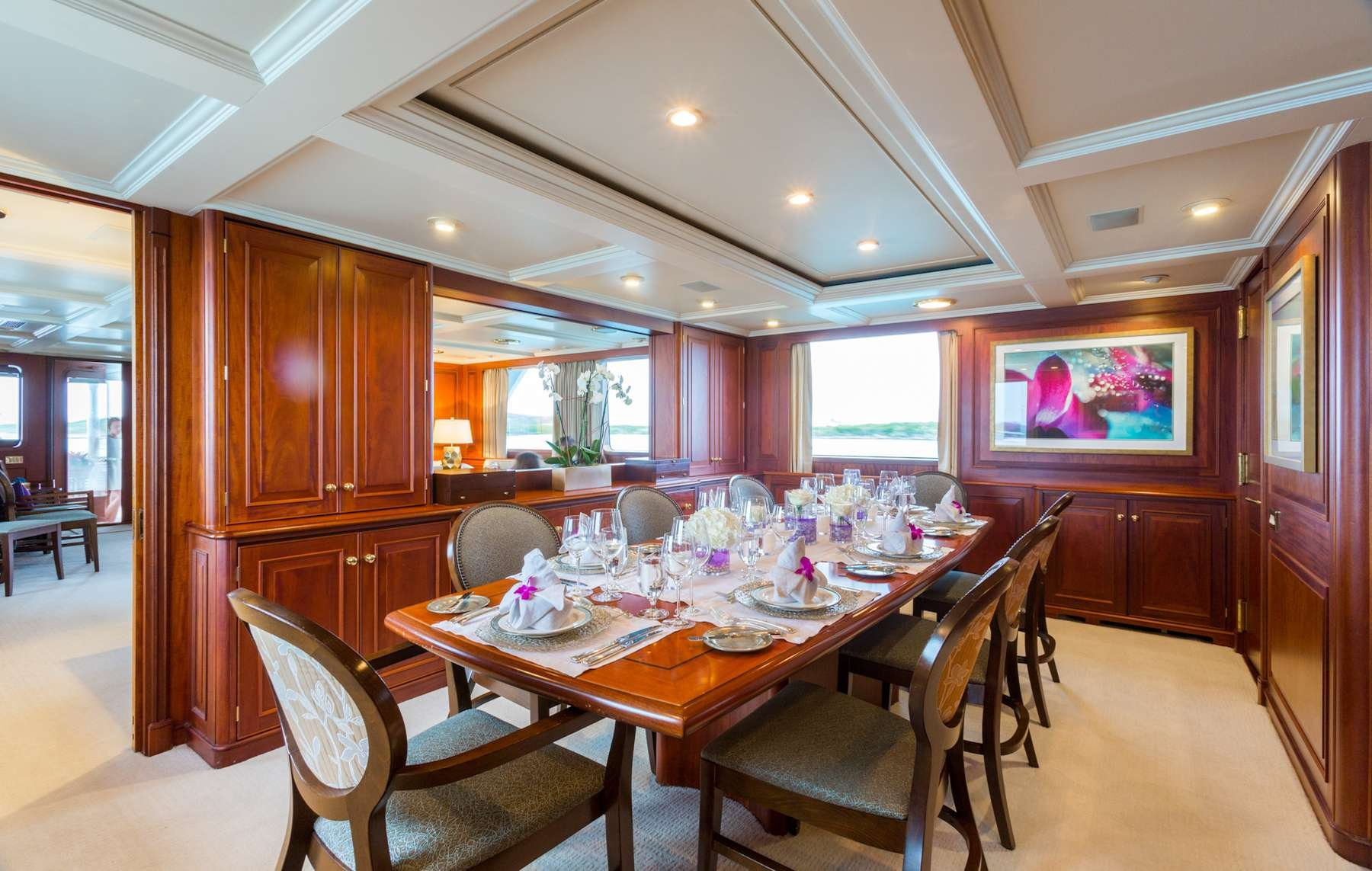 Motor Yacht 'LADY J' Formal Dining, 12 PAX, 9 Crew, 142.00 Ft, 43.00 Meters, Built 1997, Palmer Johnson, Refit Year 2017