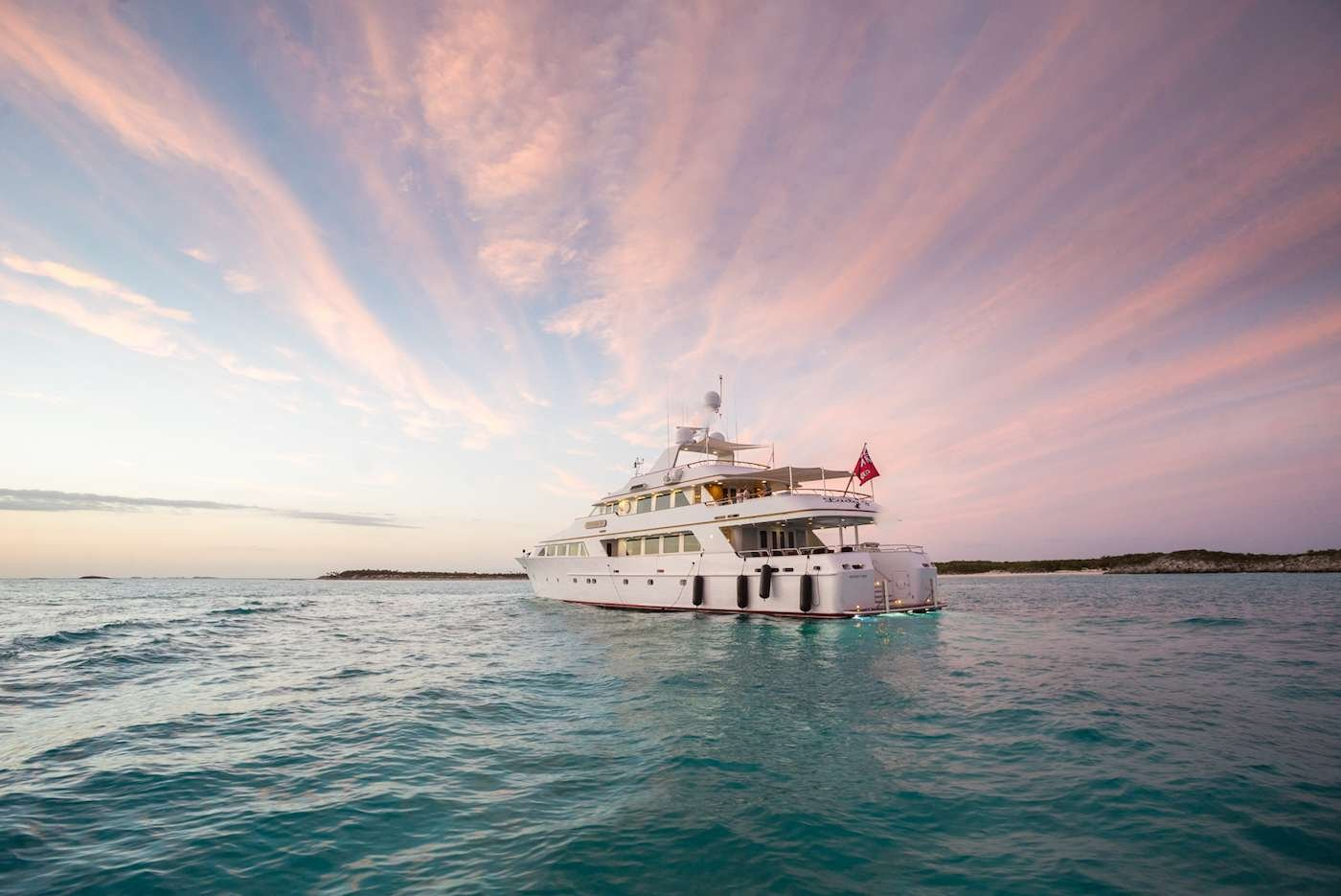 Motor Yacht 'LADY J' Aft View, 12 PAX, 9 Crew, 142.00 Ft, 43.00 Meters, Built 1997, Palmer Johnson, Refit Year 2017