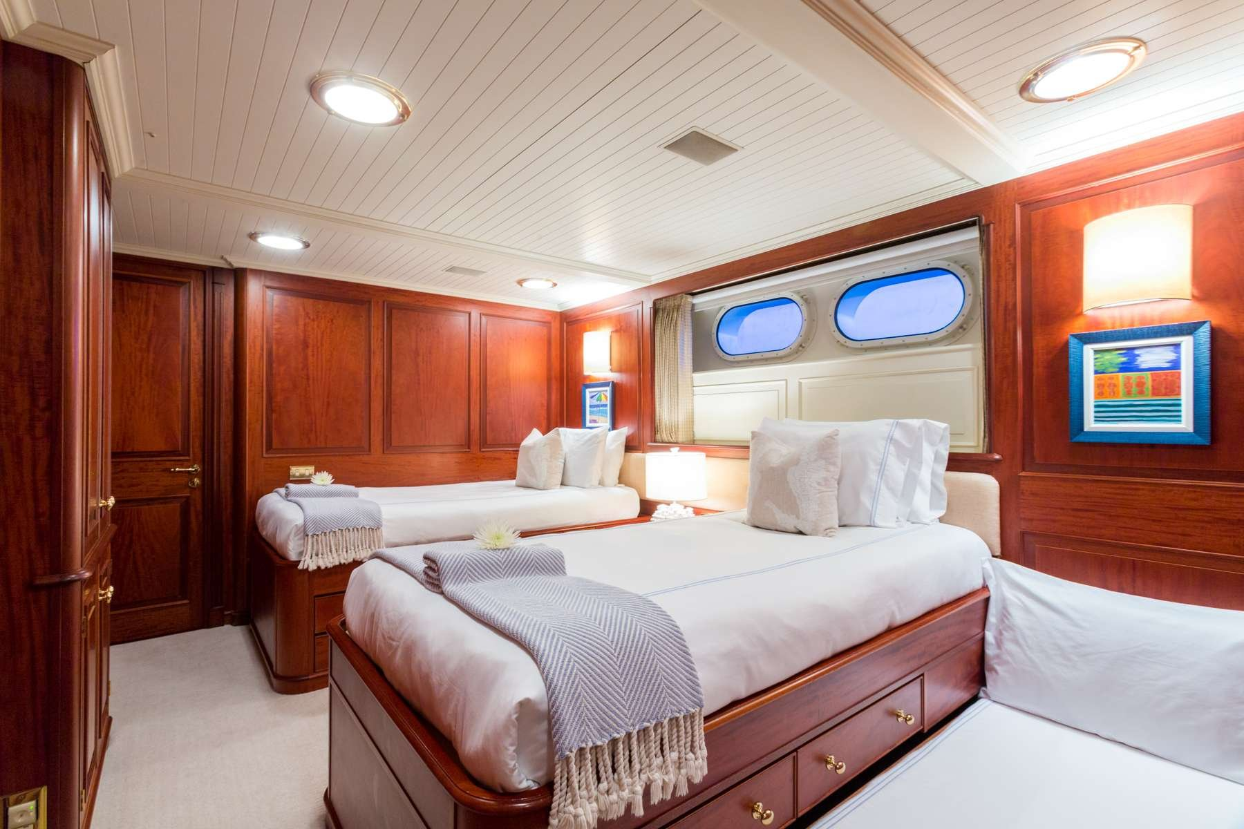 Motor Yacht 'LADY J' Twins (convert to King) plus trundle, 12 PAX, 9 Crew, 142.00 Ft, 43.00 Meters, Built 1997, Palmer Johnson, Refit Year 2017