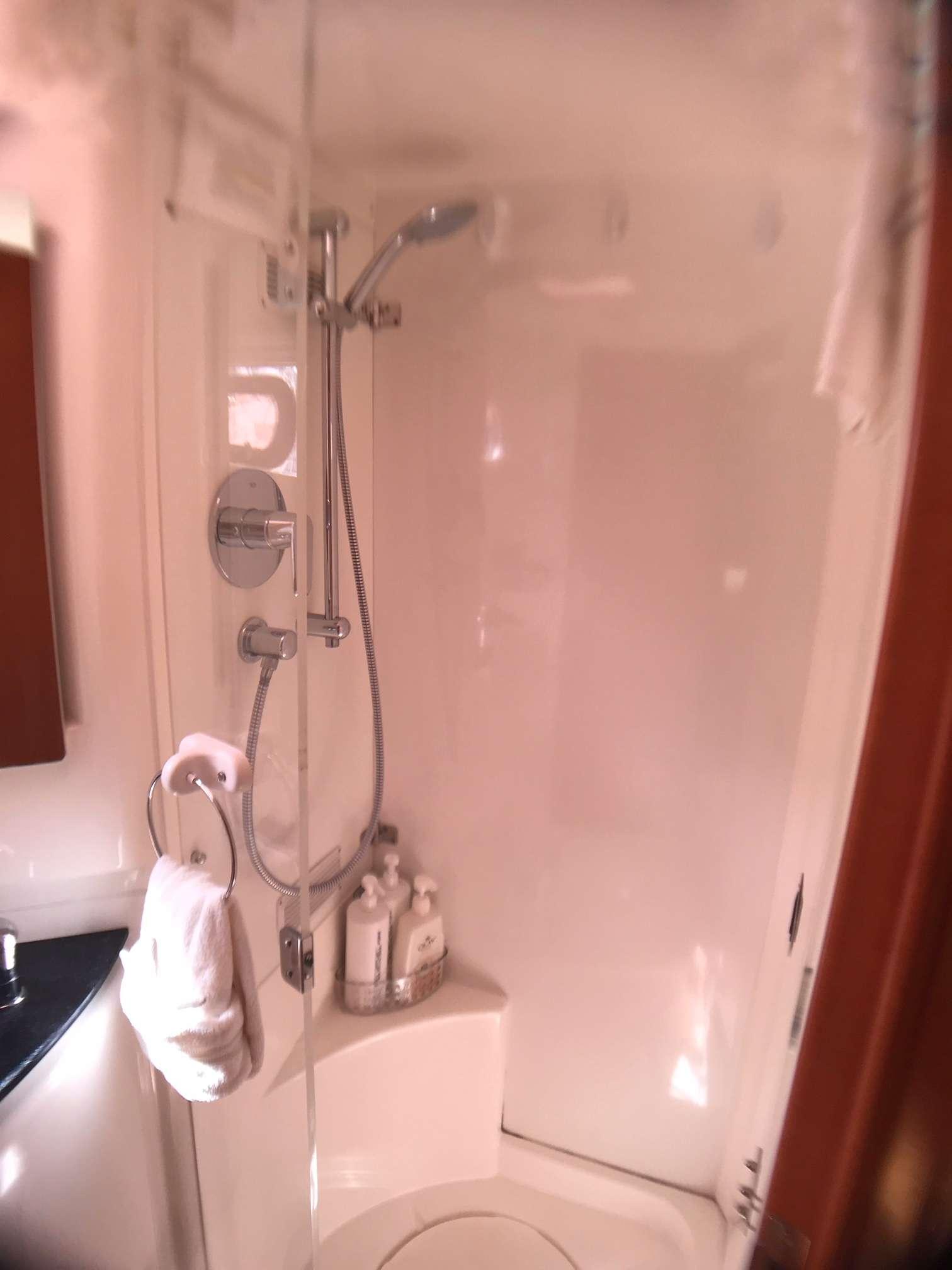 Catamaran Yacht 'STARFISH' Separate shower stalls in each bathroom., 6 PAX, 2 Crew, 46.00 Ft, 14.00 Meters, Built 2008, Leopard, Refit Year 2019