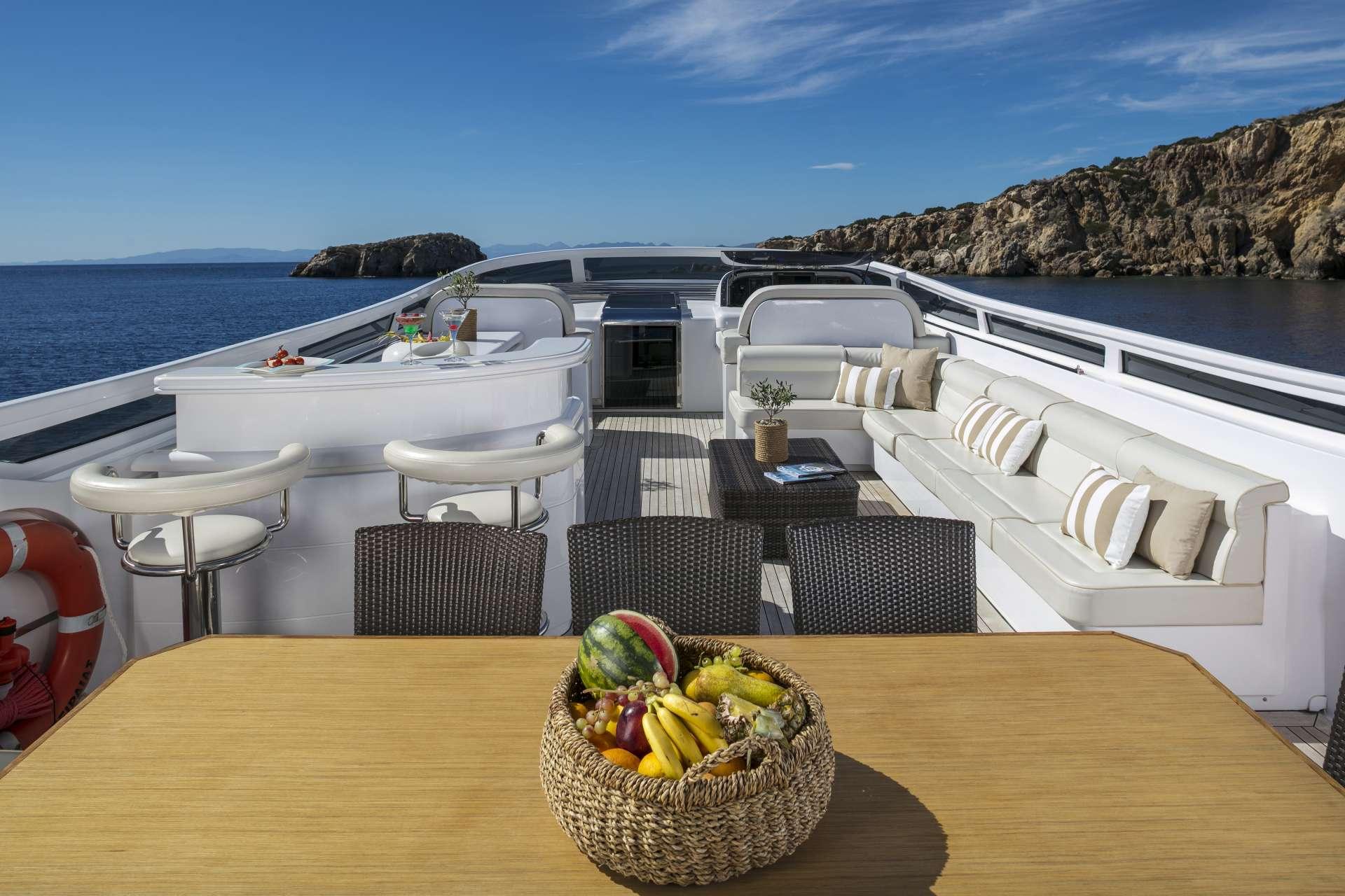 Motor Yacht 'PARIS A' Upper deck, 12 PAX, 6 Crew, 115.00 Ft, 35.06 Meters, Built 2009, Majora, Refit Year 2013