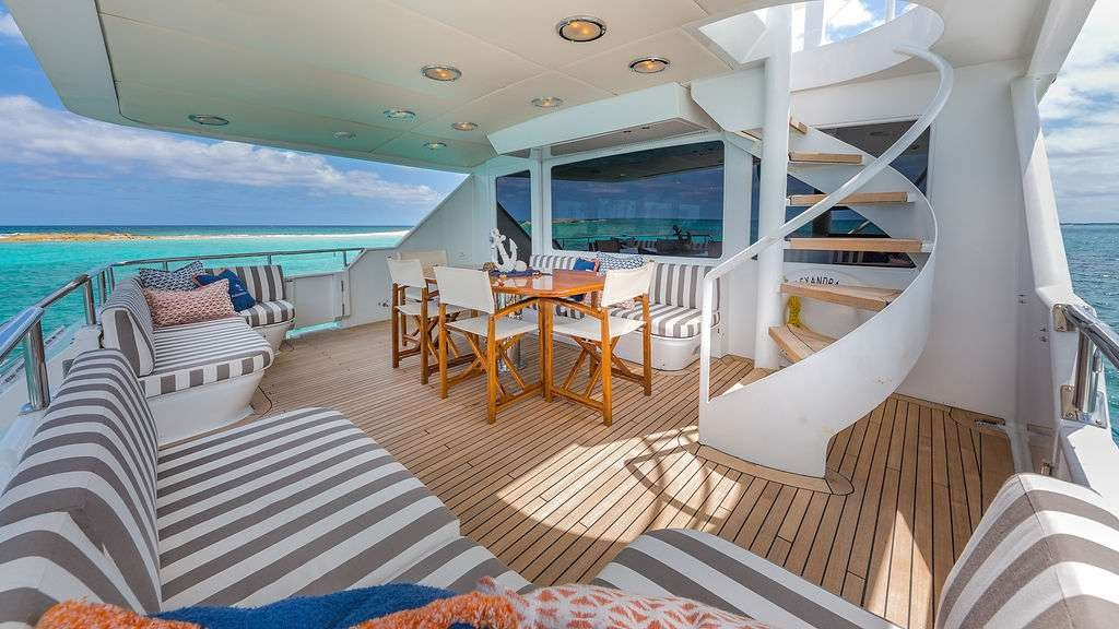 Motor Yacht 'ALEXANDRA JANE' Aft, 10 PAX, 4 Crew, 110.00 Ft, 33.00 Meters, Built 1995, Broward, Refit Year 2019