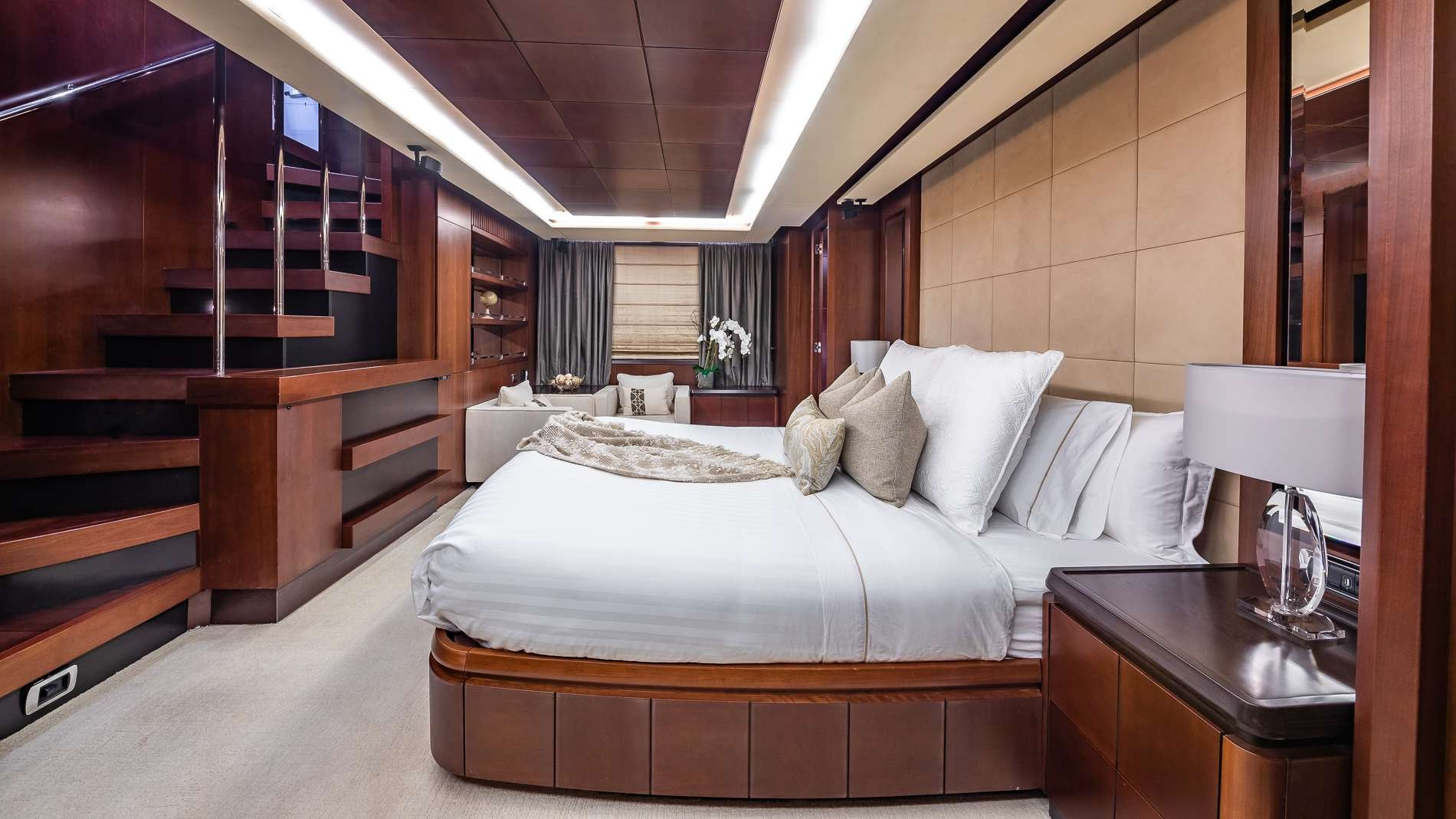 Motor Yacht 'TAIL LIGHTS' Master Stateroom, 12 PAX, 6 Crew, 116.00 Ft, 35.00 Meters, Built 2011, Azimut, Refit Year 2016
