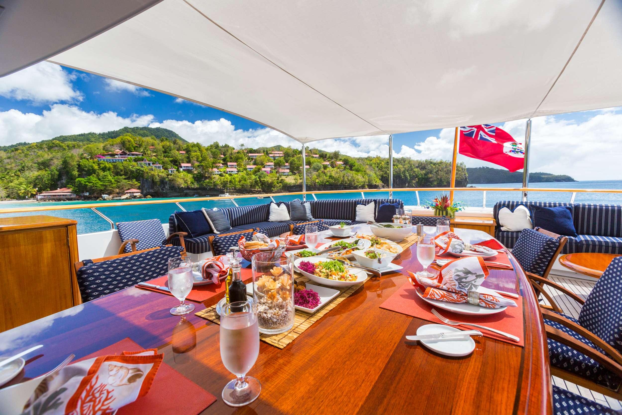 Motor Yacht 'LADY J' Bridge Deck Dining, 12 PAX, 9 Crew, 142.00 Ft, 43.00 Meters, Built 1997, Palmer Johnson, Refit Year 2017