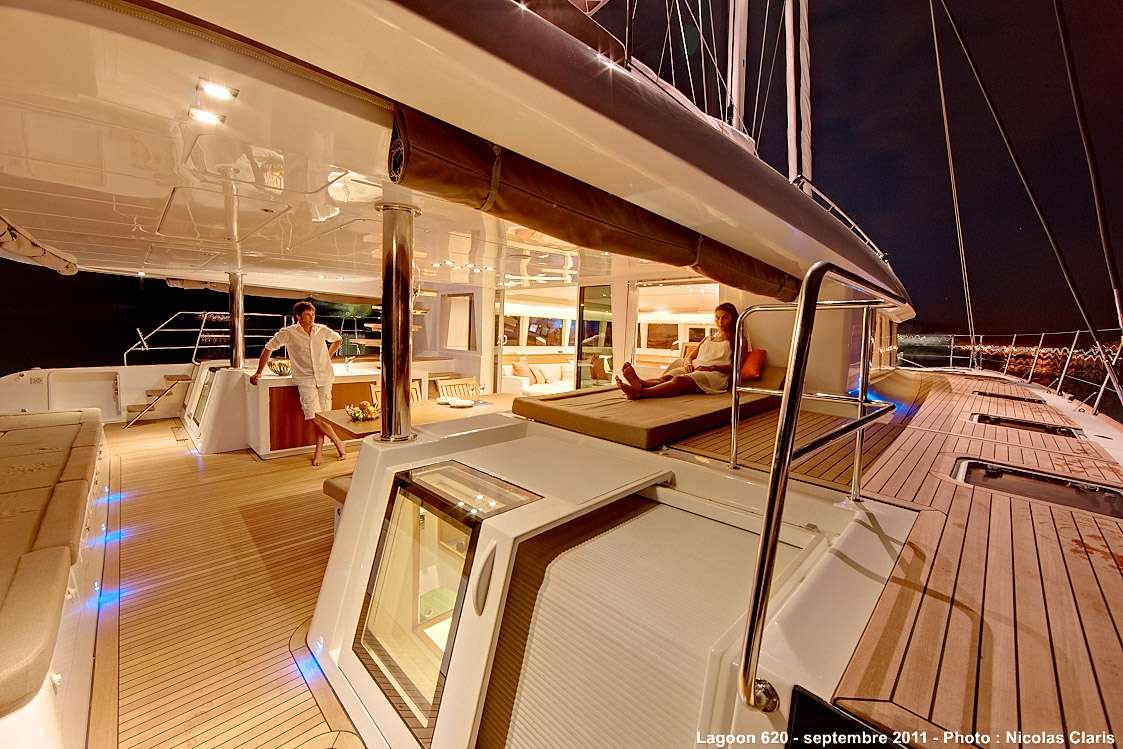 Catamaran Yacht 'FIREFLY' Easy movement about the deck, 6 PAX, 3 Crew, 61.00 Ft, 18.00 Meters, Built 2011, Lagoon