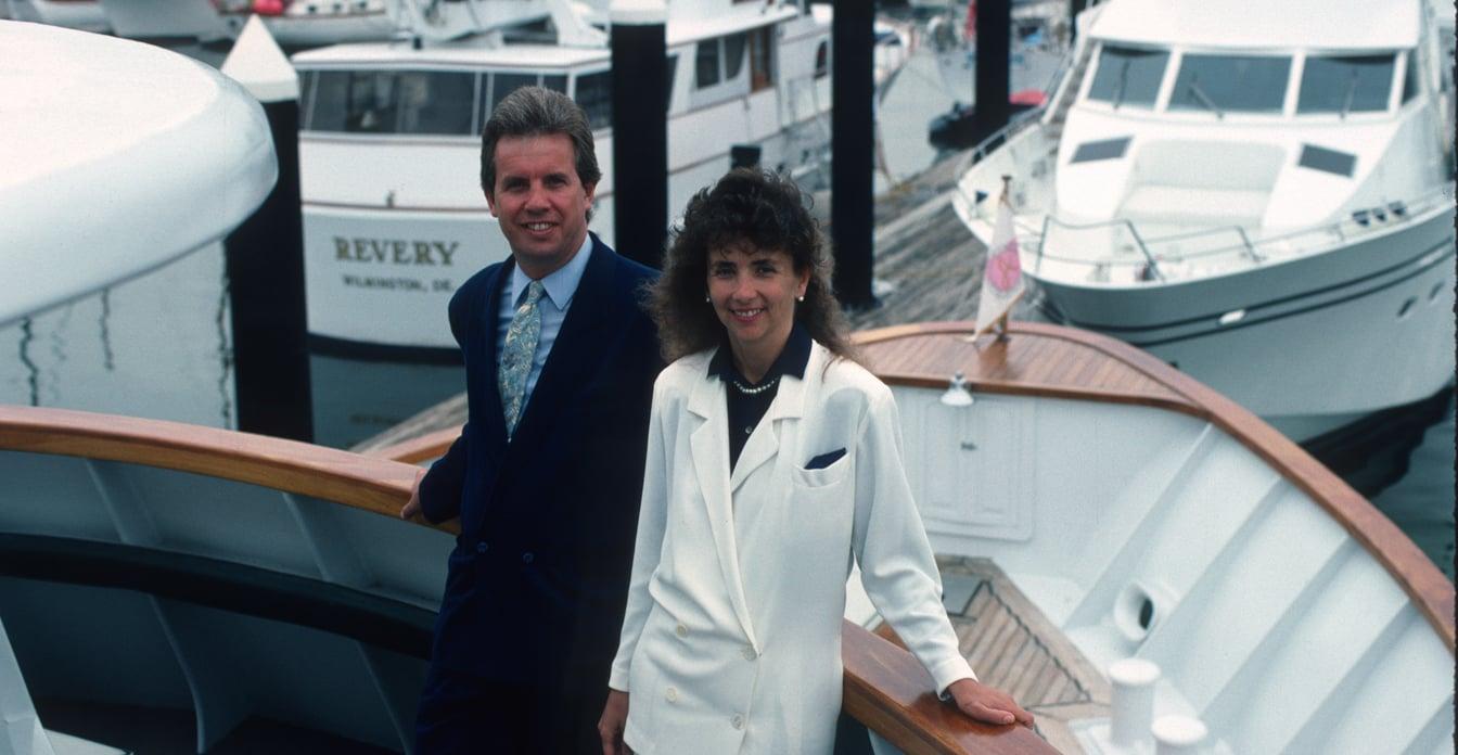 Trish Cronan & Brad Lavigne, yacht charter brokers at Ocean Getaways