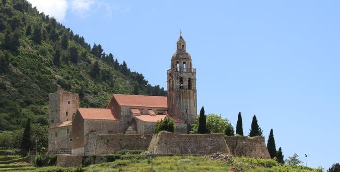 church on Croatia countryside