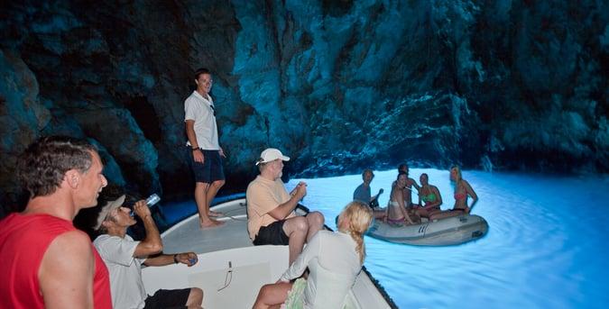 Blue Cave Bisevo on Croatia yacht charter