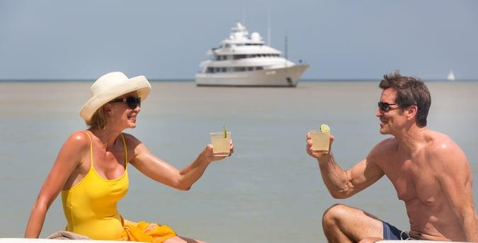 honeymoon on a yacht in the Bahamas