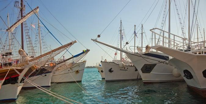 Croatia gulets on the dock