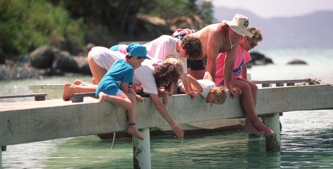 family yacht vacation USVI