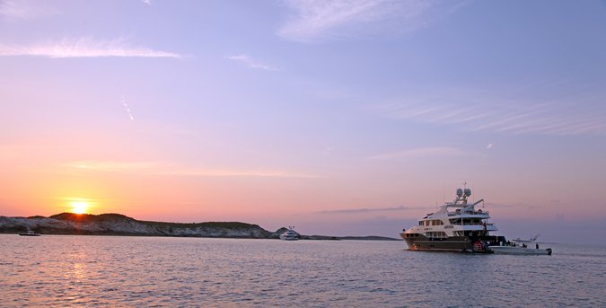 sunset in the Exuma Cays