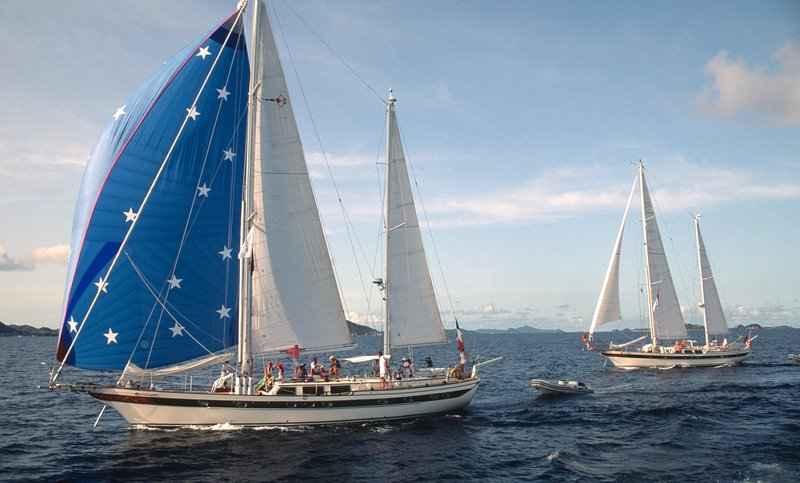Tandem Sailing Yacht in the Grenadines