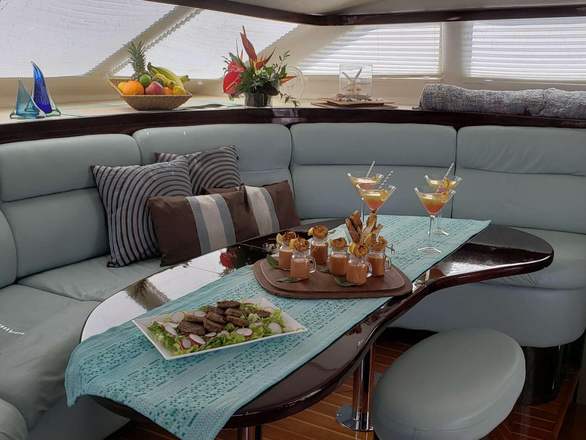 Catamaran Yacht 'NUTMEG' Main saloon area, 8 PAX, 2 Crew, 50.00 Ft, 15.00 Meters, Built 2008, St. Francis, Refit Year 2019