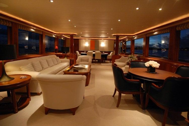 Motor Yacht 'DONA LOLA' Main Saloon, 10 PAX, 7 Crew, 130.00 Ft, 39.00 Meters, Built 2003, Westport, Refit Year 2018