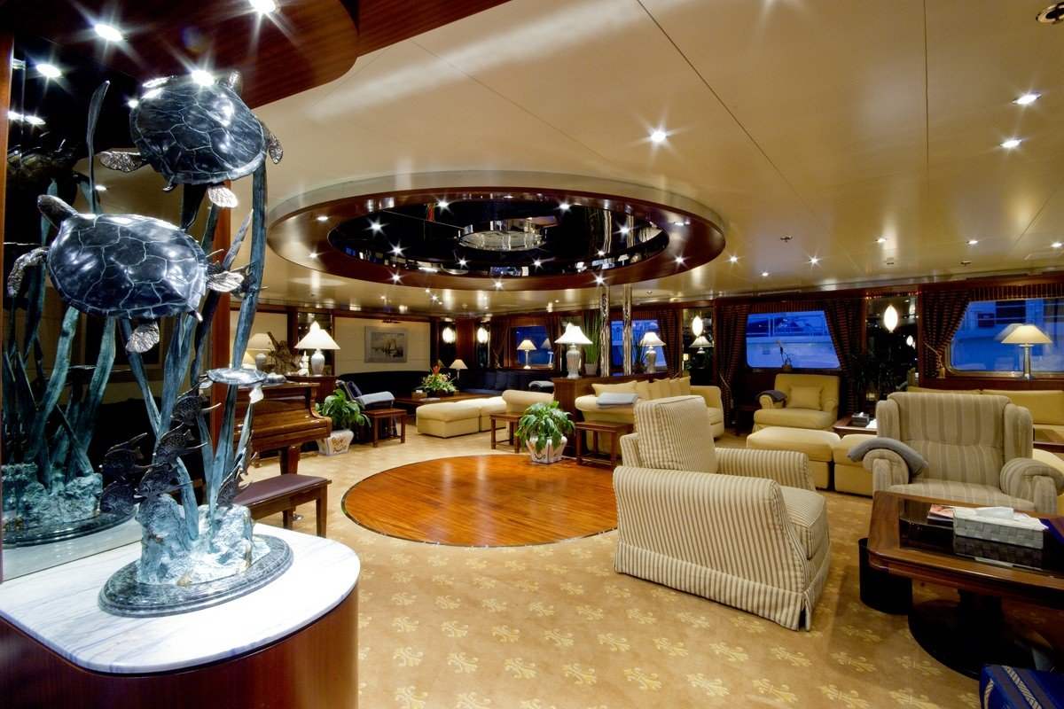 Motor Yacht 'LAUREN L' Main Salon, 40 PAX, 295.00 Ft, 90.00 Meters, Built 2002, Cassens Werft, Refit Year 2008/2015